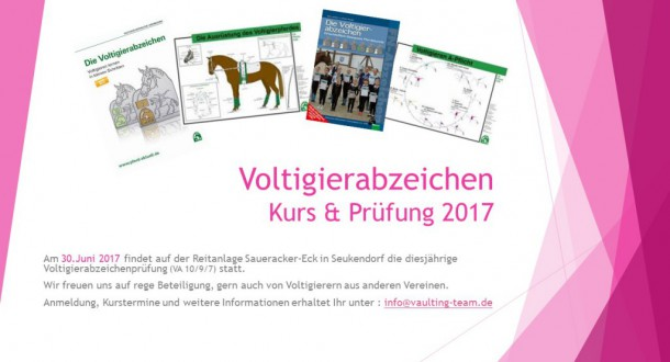 Voltigierabzeichen Kurs & Prüfung 2017